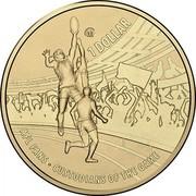 Australia 1 Dollar AFL Season - Custodians Of The Game 2015 M 1 DOLLAR AFL FANS CUSTODIANS OF THE GAME coin reverse