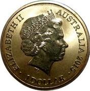 Australia 1 Dollar Alphabet Collection Coin Letter A 2015  ELIZABETH II AUSTRALIA DATE IRB 1 DOLLAR coin obverse