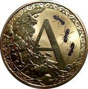 Australia 1 Dollar Alphabet Collection Coin Letter A 2015  A coin reverse