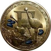 Australia 1 Dollar Alphabet Collection Coin Letter E 2015  E coin reverse