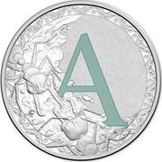 Australia 1 Dollar Alphabet Collection - Letter A (Marine) 2015 A coin reverse