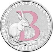 Australia 1 Dollar Alphabet Collection - Letter B (Pink) 2015 B coin reverse