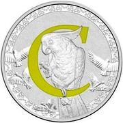 Australia 1 Dollar Alphabet Collection - Letter C (Yellow) 2016  C coin reverse
