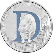Australia 1 Dollar Alphabet Collection - Letter D (Navy) 2017  D coin reverse