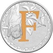 Australia 1 Dollar Alphabet Collection - Letter F (Orange) 2015 F coin reverse