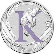 Australia 1 Dollar Alphabet Collection - Letter K (Violet) 2015  K coin reverse
