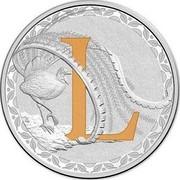 Australia 1 Dollar Alphabet Collection - Letter L (Orange) 2015  L coin reverse