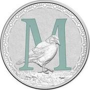 Australia 1 Dollar Alphabet Collection - Letter M (Marine) 2015  M coin reverse