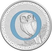 Australia 1 Dollar Alphabet Collection - Letter O (Blue) 2015  O coin reverse