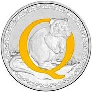 Australia 1 Dollar Alphabet Collection - Letter Q (Yellow) 2016  Q coin reverse