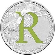 Australia 1 Dollar Alphabet Collection - Letter R (Green) 2017  R coin reverse