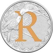 Australia 1 Dollar Alphabet Collection - Letter R (Orange) 2015  R coin reverse