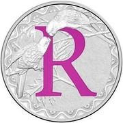 Australia 1 Dollar Alphabet Collection - Letter R (Violet) 2016  R coin reverse