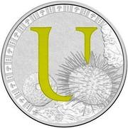 Australia 1 Dollar Alphabet Collection - Letter U (Green) 2016  U coin reverse