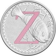 Australia 1 Dollar Alphabet Collection - Letter Z (Pink) 2015  Z coin reverse
