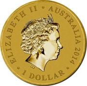Australia 1 Dollar Anzac Declaration of World War I 2014  ELIZABETH II AUSTRALIA 2014 1 DOLLAR IRB coin obverse