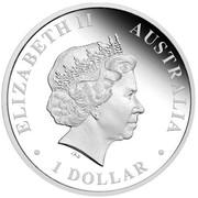 Australia 1 Dollar Australian Antarctic Territory Series - Wandering Albatross 2014 KM# 2182 ELIZABETH II AUSTRALIA 1 DOLLAR IRB coin obverse