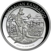 Australia 1 Dollar Australian Kangaroo 2014 KM# 2177 AUSTRALIAN KANGAROO 2014 1 OZ 999 SILVER P TV coin reverse