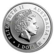 Australia 1 Dollar Australian Kookaburra (Colorized) 2017 ELIZABETH II AUSTRALIA 1 DOLLAR IRB coin obverse