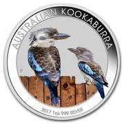 Australia 1 Dollar Australian Kookaburra (Colorized) 2017 AUSTRALIAN KOOKABURRA 2017 1 OZ 999 SILVER P coin reverse