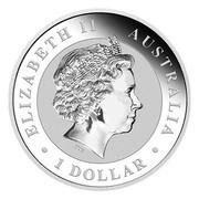 Australia 1 Dollar Australian Kookaburra (Monkey Privy) 2016 ELIZABETH II AUSTRALIA 1 DOLLAR IRB coin obverse