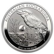 Australia 1 Dollar Australian Kookaburra (Monkey Privy) 2016 AUSTRALIAN KOOKABURRA 2016 1 OZ 999 SILVER P NM coin reverse