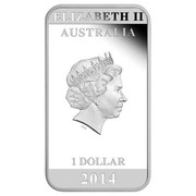 Australia 1 Dollar Australian Posters of World War I - Enlistment 2014  ELIZABETH II AUSTRALIA 1 DOLLAR 2014 IRB coin obverse