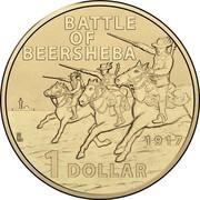 Australia 1 Dollar Battle of Beersheba 2017 BATTLE OF BEERSHEBA 1917 1 DOLLAR coin reverse