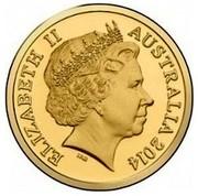 Australia 1 Dollar Blowfly 2014  ELIZABETH II AUSTRALIA 2014 IRB coin obverse