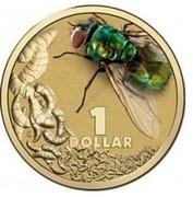 Australia 1 Dollar Blowfly 2014  1 DOLLAR coin reverse