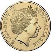 Australia 1 Dollar Boxing Kangaroo 2016  ELIZABETH II AUSTRALIA 2016 IRB coin obverse