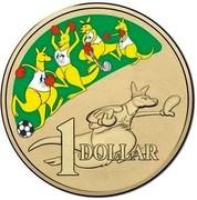 Australia 1 Dollar Boxing Kangaroo 2016  1 DOLLAR coin reverse