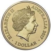Australia 1 Dollar Centenary Of The Trans Australian Railway 2017 ELIZABETH II AUSTRALIA 2017 1 DOLLAR IRB coin obverse