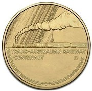 Australia 1 Dollar Centenary Of The Trans Australian Railway 2017 TRANS-AUSTRALIAN RAILWAY CENTENARY B TD coin reverse