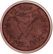 Australia 1 Dollar Convict Love Token - Forget Me Not 2016  FORGET ME, NOT coin reverse