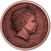 Australia 1 Dollar Convict Love Token - Gaol Bird 2016  ELIZABETH II AUSTRALIA 2016 1 DOLLAR IRB coin obverse