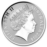 Australia 1 Dollar Crocodile Graham 2014  ELIZABETH II AUSTRALIA 2014 IRB coin obverse