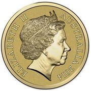 Australia 1 Dollar Cuckoo Wasp 2014  ELIZABETH II AUSTRALIA 2014 IRB coin obverse