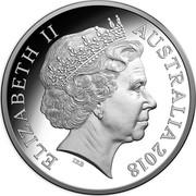Australia 1 Dollar FIFA World Cup 2018 ELIZABETH II AUSTRALIA 2018 IRB coin obverse