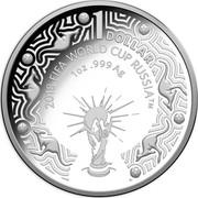 Australia 1 Dollar FIFA World Cup 2018 2018 FIFA WORLD CUP RUSSIA™ 1 OZ .999 AG 1 DOLLAR ™ coin reverse