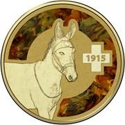Australia 1 Dollar Frunc Unlikely Heroes - Murphy the Donkey 2015 1915 coin reverse