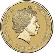 Australia 1 Dollar Frunc Unlikely Heroes - Sandy the Horse 2015  ELIZABETH II AUSTRALIA 2015 1 DOLLAR IRB coin obverse