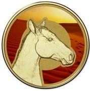 Australia 1 Dollar Frunc Unlikely Heroes - Sandy the Horse 2015  - coin reverse