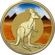 Australia 1 Dollar Frunc Unlikely Heroes - Shake the Kangaroo 2015  - coin reverse