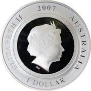 Australia 1 Dollar Funny Pig 2007 ELIZABETH II 2007 AUSTRALIA 1 DOLLAR IRB coin obverse