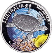 Australia 1 Dollar Great Barrier Reef 2011 AUSTRALIA $1 GREAT BARRIER REEF 1 OZ 999 SILVER P coin reverse