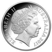 Australia 1 Dollar Great Barrier Reef 2015  ELIZABETH II AUSTRALIA 2017 IRB coin obverse