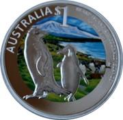 Australia 1 Dollar Heard and Mcdonald Islands 2011 AUSTRALIA $1 HEARD ISLAND & MCDONALD ISLANDS 1 OZ 999 SILVER P coin reverse