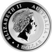 Australia 1 Dollar Horse 2017 ELIZABETH II AUSTRALIA 1 DOLLAR IRB coin obverse