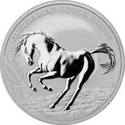 Australia 1 Dollar Horse 2017 AUSTRALIAN STOCK HORSE 2017 1 OZ 9999 SILVER P coin reverse